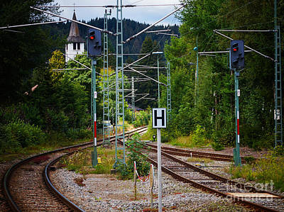 Photograph - Railway In The Mountains by Nick  Biemans