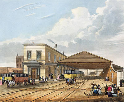 Train Station Drawing - Railway Office, Liverpool, Plate 8 by Thomas Talbot Bury