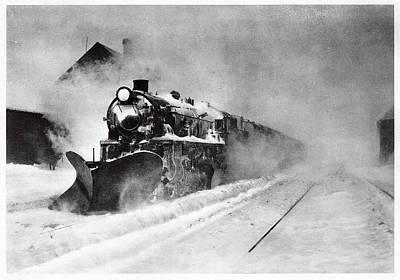 Railway Snow Plough Art Print