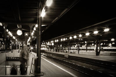 Photograph - Railway Station At Night by Celso Diniz