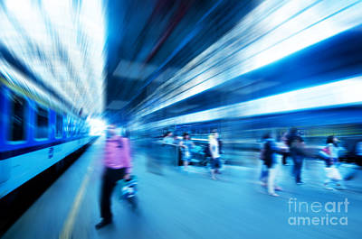 Futuristic Photograph - Railway Station by Michal Bednarek