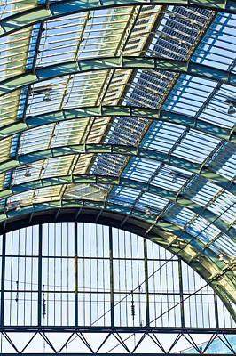 Concourse Photograph - Railway Station Roof by Tom Gowanlock