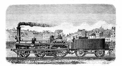 Railway Steam Locomotive Art Print by Universal History Archive/uig