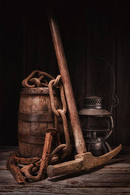Old Barrels Photograph - Railway Still Life by Tom Mc Nemar