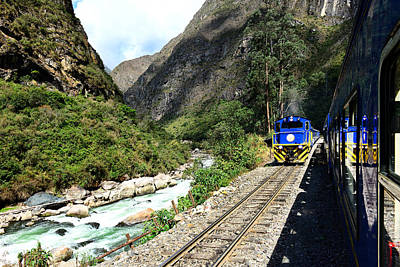 Railway To Machu Picchu Art Print