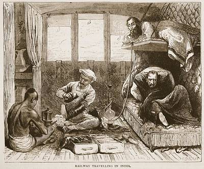 Bunk Drawing - Railway Travelling In India by English School