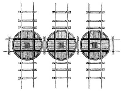 Railway Turntables Art Print by Science Photo Library
