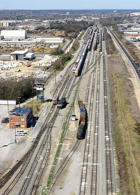 Photograph - Railyard From The Air by Joseph C Hinson Photography