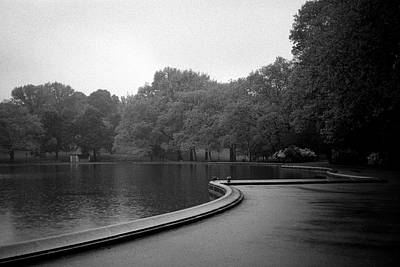 Photograph - Rain At The Sailboat Pond by Cornelis Verwaal
