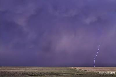 Photograph - Rain Bolt by Jeff Niederstadt