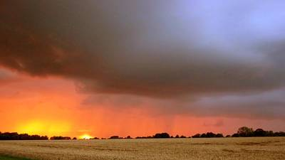 Photograph - Rain Burst by Dave Woodbridge