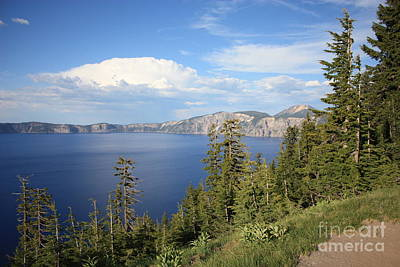 Photograph - Rain Cloud Over Crater Lake by Carol Groenen