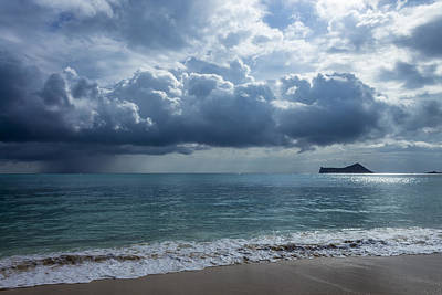 Katharine Hepburn - Rain Clouds At Waimanalo by Leigh Anne Meeks