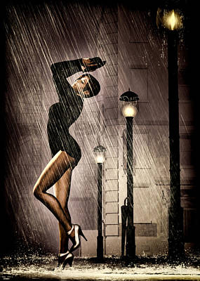 Orsillo Painting - Rain Dance by Bob Orsillo