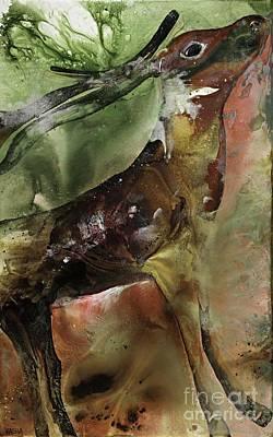 Santa Claus Painting - Rain. Dear.  by Kasha Ritter
