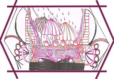 Sterling Drawing - Rain Drops by Becky Sterling