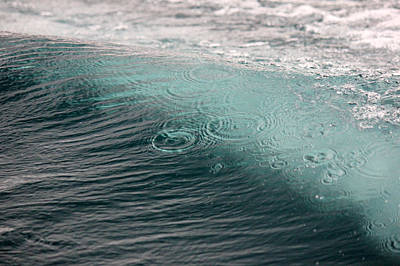 Photograph - Rain Drops On The Wave by Connie Zarn
