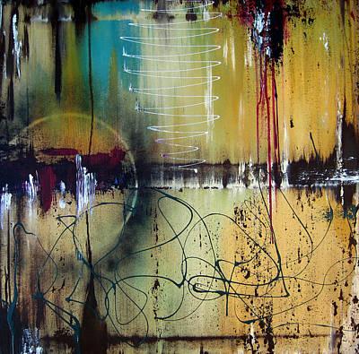 Dog Abstract Art Painting - Rain by Tom Fedro - Fidostudio