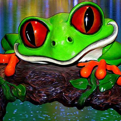 Photograph - Rain Forest Frog by John Haldane