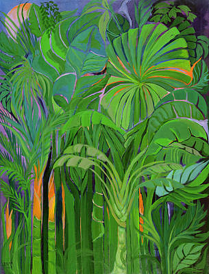 Cycles Painting - Rain Forest Malaysia by Laila Shawa