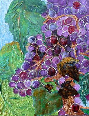 Rain In The Vineyard Art Print by Rhonda Chase