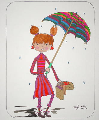 Drawing - Rain by Mary Kay De Jesus