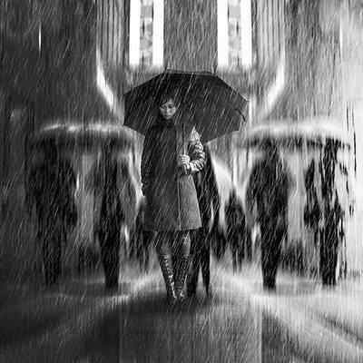 Rain Of Sadness Art Print