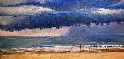 Painting - Rain Offshore by Keith Wilkie