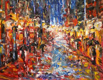 Rain On 5th Ave Art Print