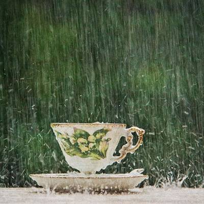 Photograph - Rain On A Teacup - I by Mary Hershberger