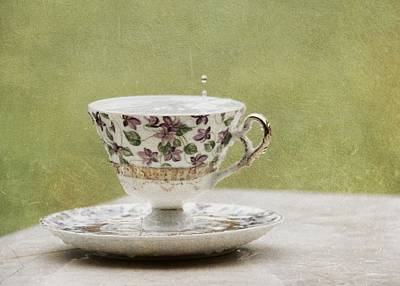 Photograph - Rain On A Teacup IIi by Mary Hershberger