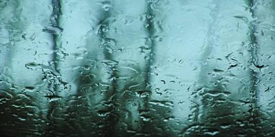 Photograph - Rain On Bare Trees by Lars Lentz