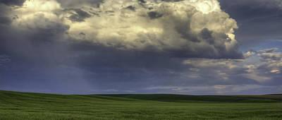 Contour Farming Photograph - Rain On Green by Latah Trail Foundation