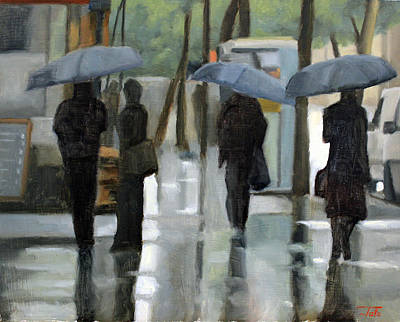 Painting - Rain On Saint Germain by Tate Hamilton