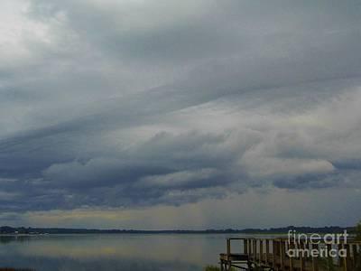 Photograph - Rain On Lake Weir by D Hackett