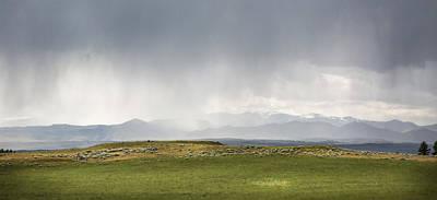 Beartooth Mountain Range Photograph - Rain On The Range by Christine Bakke