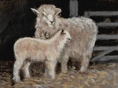 Sheep Wagon Painting   Rain On The Roof By David Zimmerman