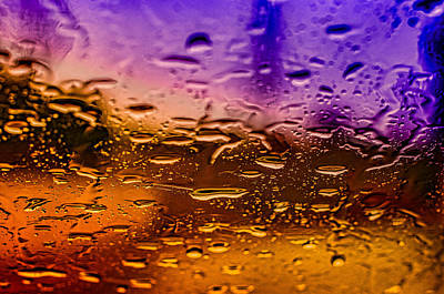 Rain On Windshield Art Print