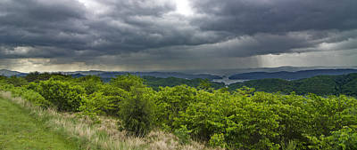 Photograph - Rain Over Blue Ridge Mountains by Spencer Bodian