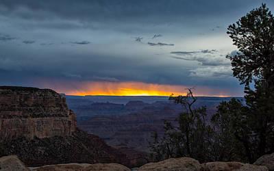 Photograph - Rain Over The Sunset by John M Bailey
