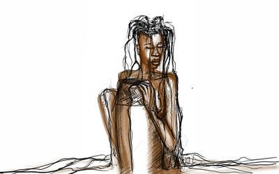 Digital Art - Rain Queen by Khaya Bukula