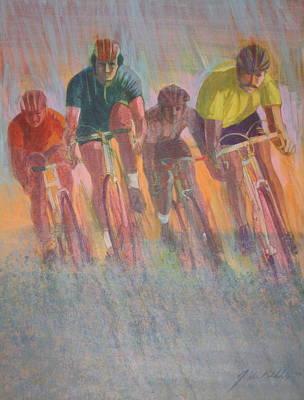 Rain Racers Art Print by J W Kelly