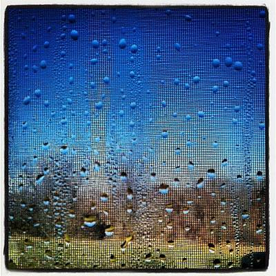 Drops Photograph - #rain #rainy #window #screen #abstract by Jill Battaglia
