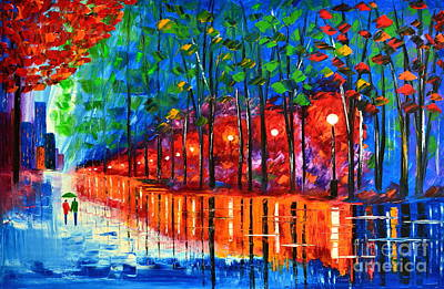 Rain Reflection Art Print