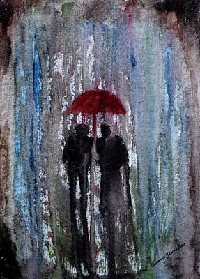 Painting - Rain by Saranya Haridasan