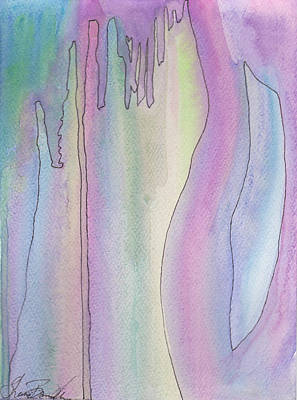 Wash Mixed Media - Rain by Shawn Brandon