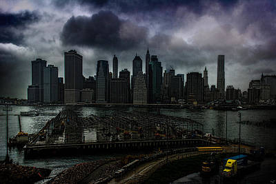 Photograph - Rain Showers Likely Over Downtown Manhattan by Chris Lord