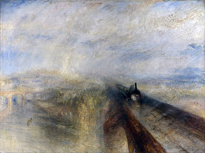 Painting - Rain Steam And Speed by Celestial Images