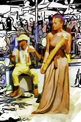 Mixed Media - Rain Stick Dance by John Haldane