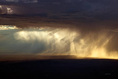 Painterly Photograph - Rain Storm by Leland D Howard